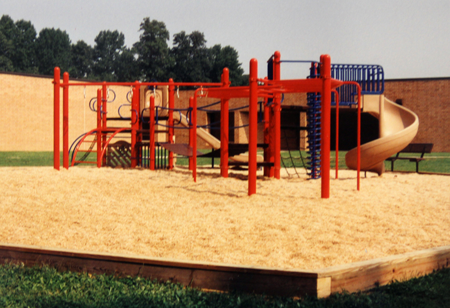 Photograph of the new playground that was installed in 1993.